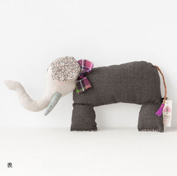Apolline  Elephant エレファント (pink bow ピンク タイ )