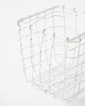 FOG LINEN WORK(フォグリネンワーク)   スクエアバスケット ホワイトSS
