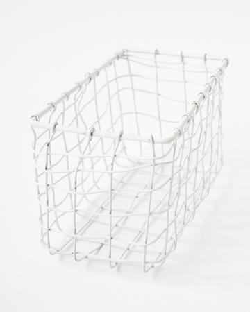 FOG LINEN WORK(フォグリネンワーク)   レクタングルバスケット ホワイトSS