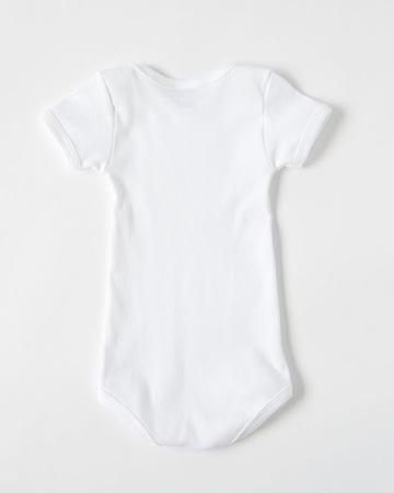 PETIT BATEAU(プチバトー) ベビー ホワイト半袖ボディ2枚組(00 ホワイト)18M