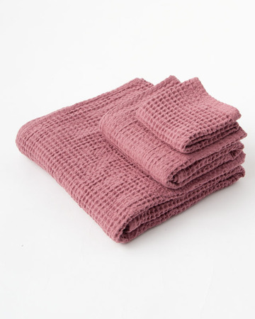 NUMERO 74  SET OF TOWELS ワッフルタオルセット(S042 BAOBAB ROSE)