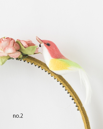 NUMERO 74  BIRD HEADBAND  カチューシャ (レッドブルー)
