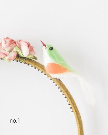 NUMERO 74  BIRD HEADBAND  カチューシャ(イエローグリーン)